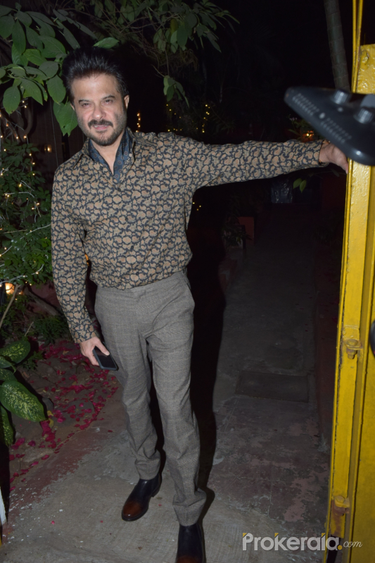Actor Anil Kapoor attend Javed Akhtar birthday party at juhu.