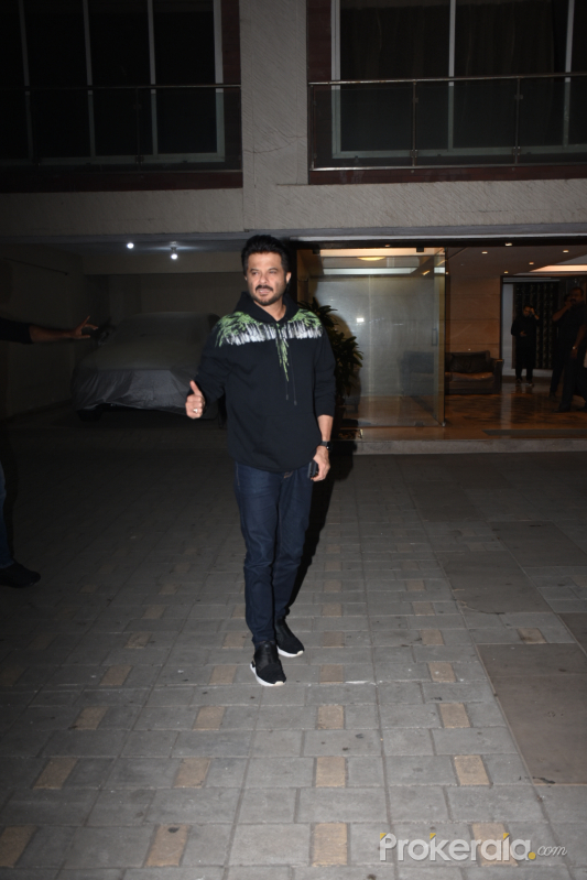 Actor Anil Kapoor in Malang cast at Aditya Roy Kapoor's home.