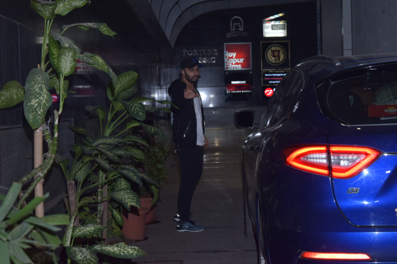 Actor Arjun Kapoor seen at gym in Khar.