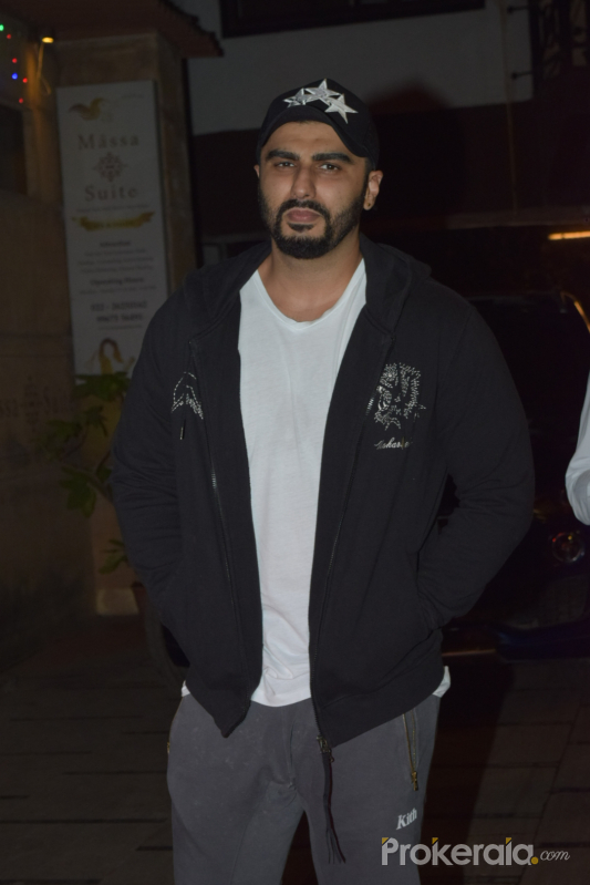 Actor Arjun Kapoor spotted gym in juhu.