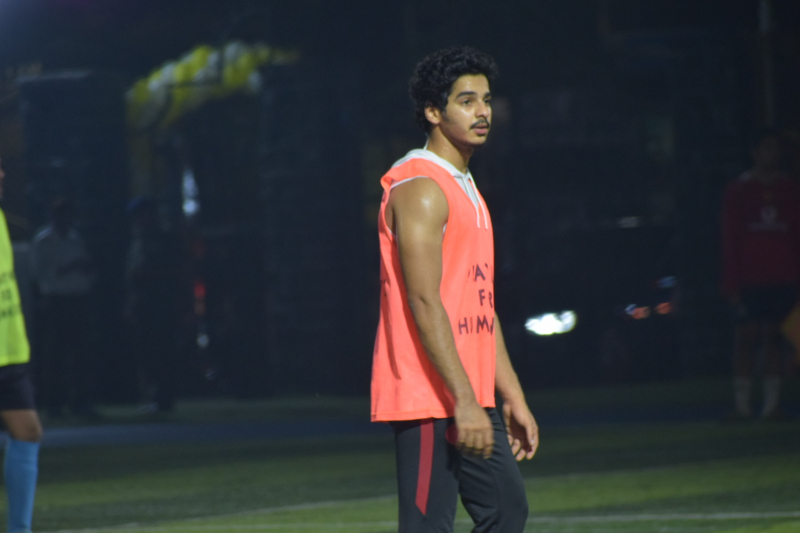 Actor Ishaan Khattar Playing football at juhu.