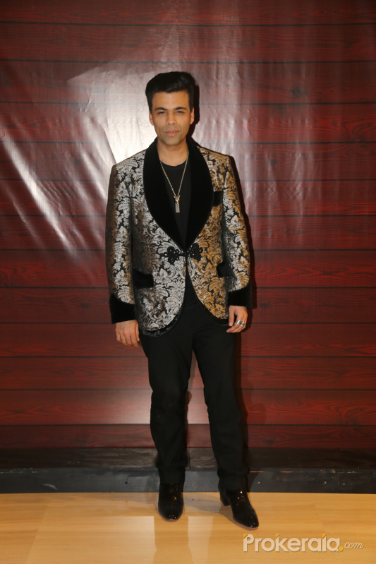 Actor Karan Johar  at Javed Akhtar's Birthday.