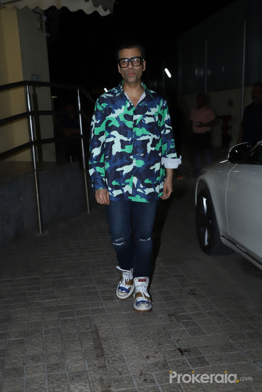 Actor Karan Johar at Screening of film Bhoot the Haunted Ship