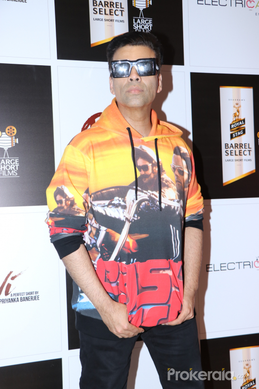 Actor Karan Johar at screening of movie Devi