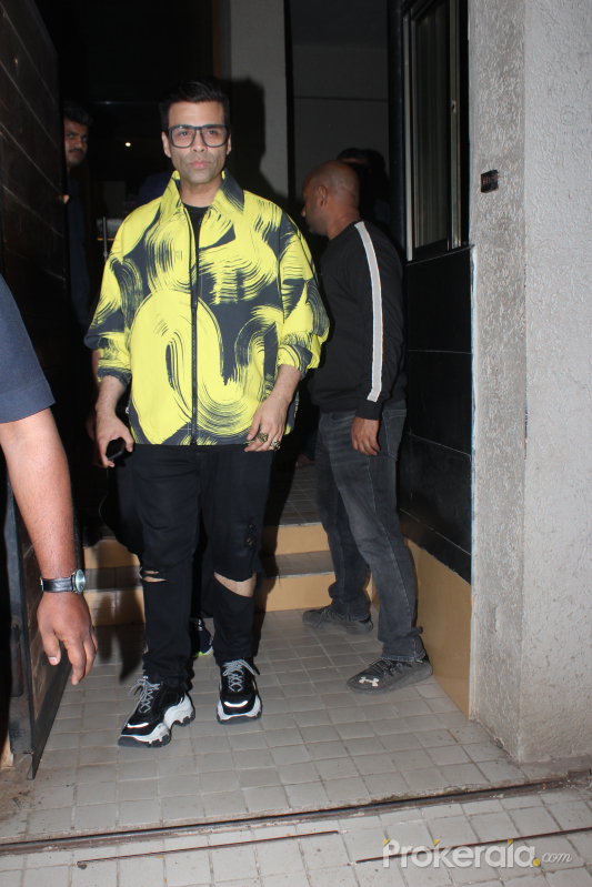 Actor karan Johar at Shashank Khaitan's birthday party