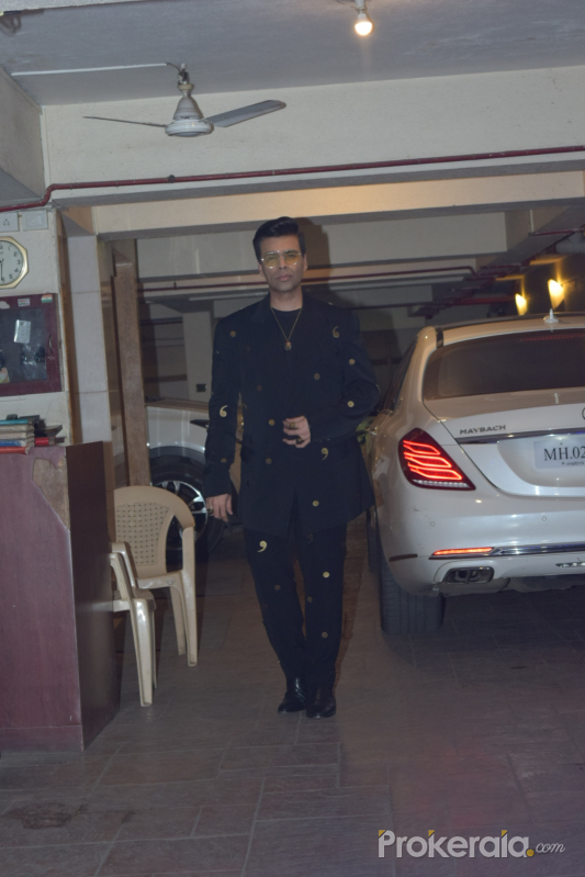 Actor Karan Johar in Kareena Kapoor's Christmas party at bandra