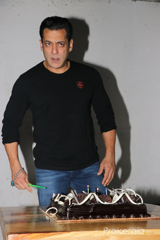 Actor Salman Khan Birthday celebrates at Mehboob