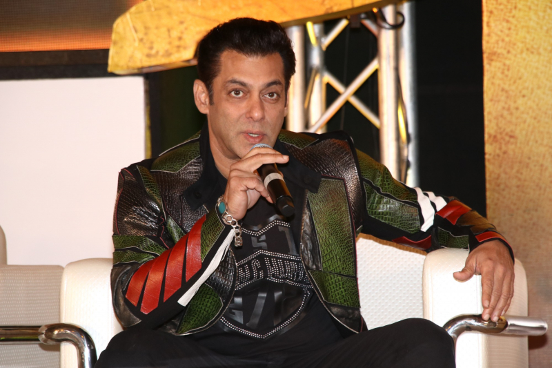 Actor Salman Khan in Dabangg3 Press Meet.