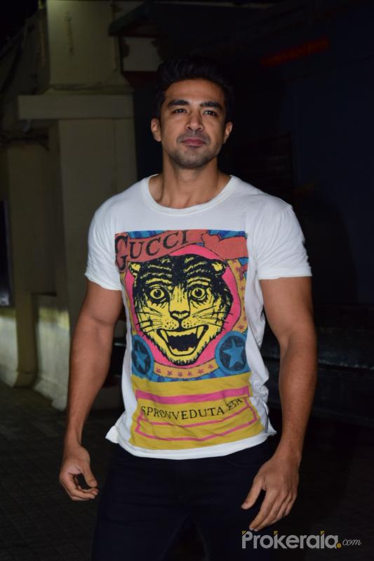 Actor Saqib Saleem at Screening of Angrezi Medium in pvr juhu