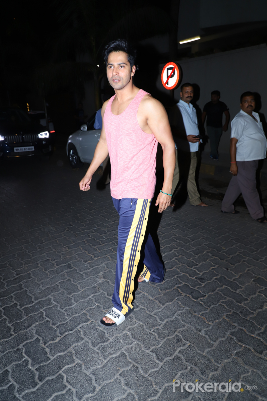 Actor Varun Dhawan seen at juhu