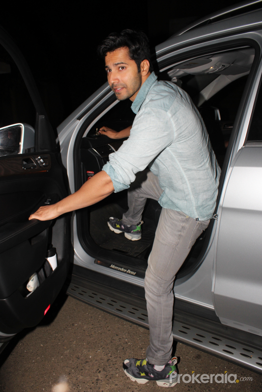 Actor Varun Dhawan spotted at recording studio in juhu