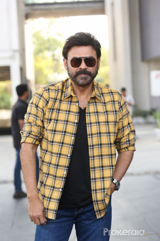 Actor Venkatesh in Venky Mama Movie Success Meet.