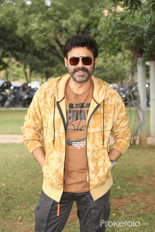 Actor Venkatesh Posses for Photo.