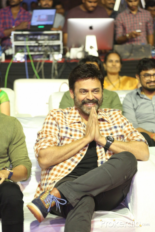 Actor Venkatesh in VenkyMama Movie Pre-Release Event.