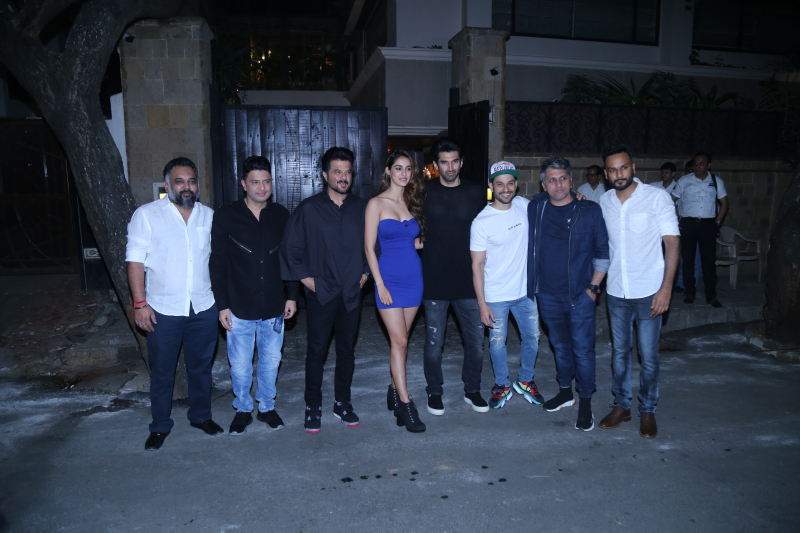 Actors in Starcast of movie Malang  at Anil Kapoor's house in juhu