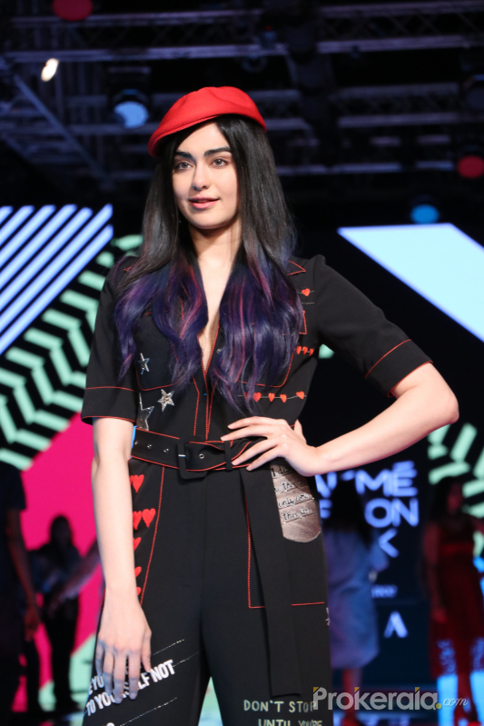 Actress Adah Sharma in at  L F W 2020