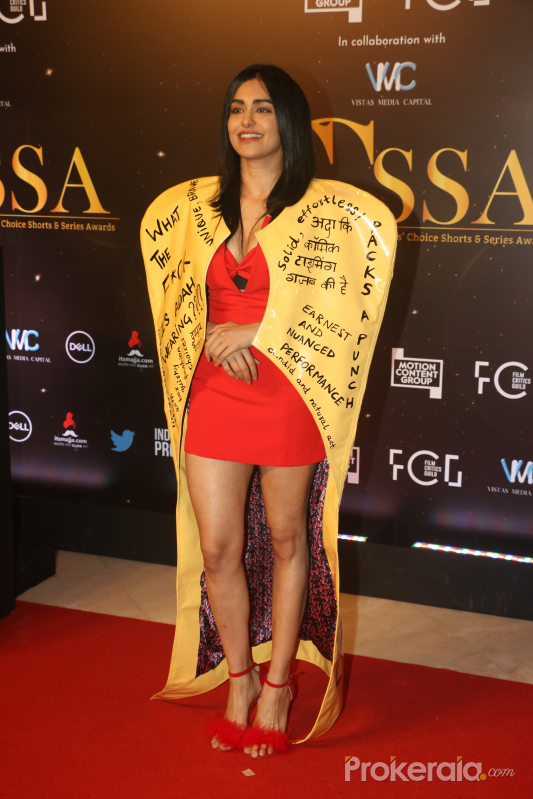 Actress Adah Sharma in Critic's Choice Awards at Taj Santacruz.