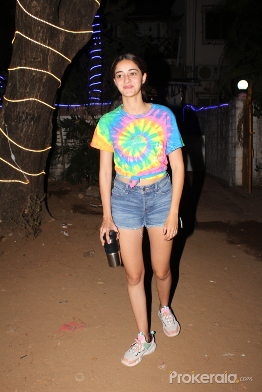 Actress  Ananya Pandey seen at dance class in andheri