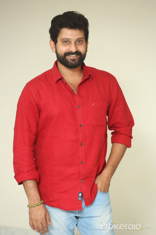 Actress Bala Aditya poses for a photo during his movie interview