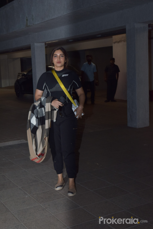 Actress Bhumi Pednekar seen at Santacruz.