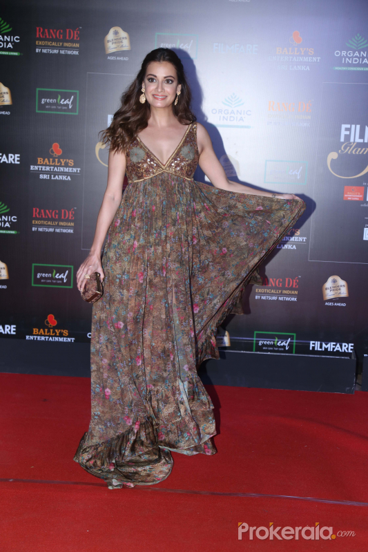 Actress Dia Mirza in Filmfare Glamour And Style Awards 2019.