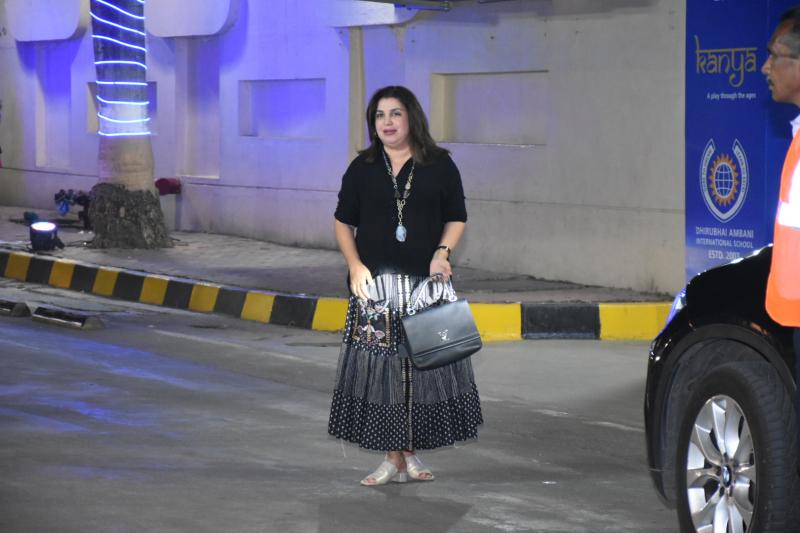 Actress  Farah Khan attend the annual day function of Dhirubhai Ambani International School.