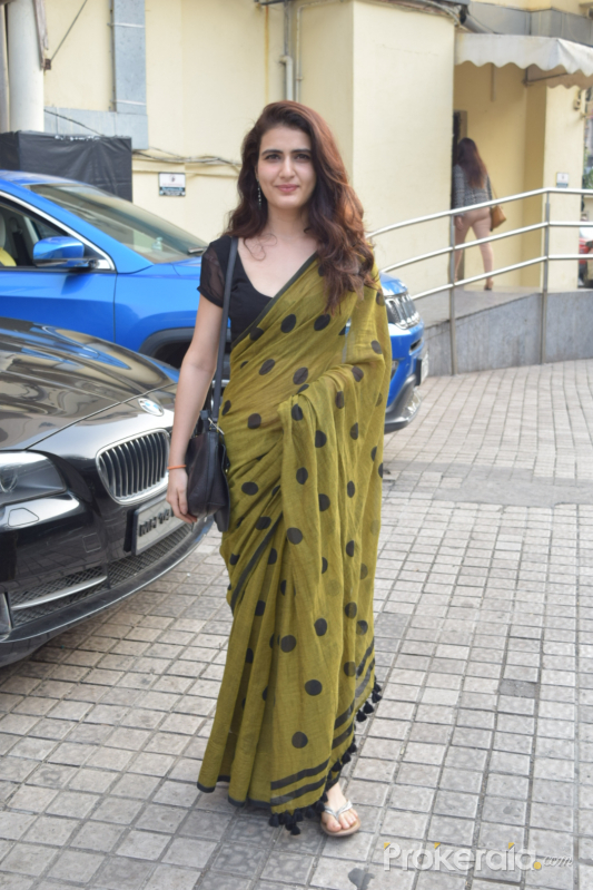 Actress Fatima Sana Shaikh seen at pvr juhu.