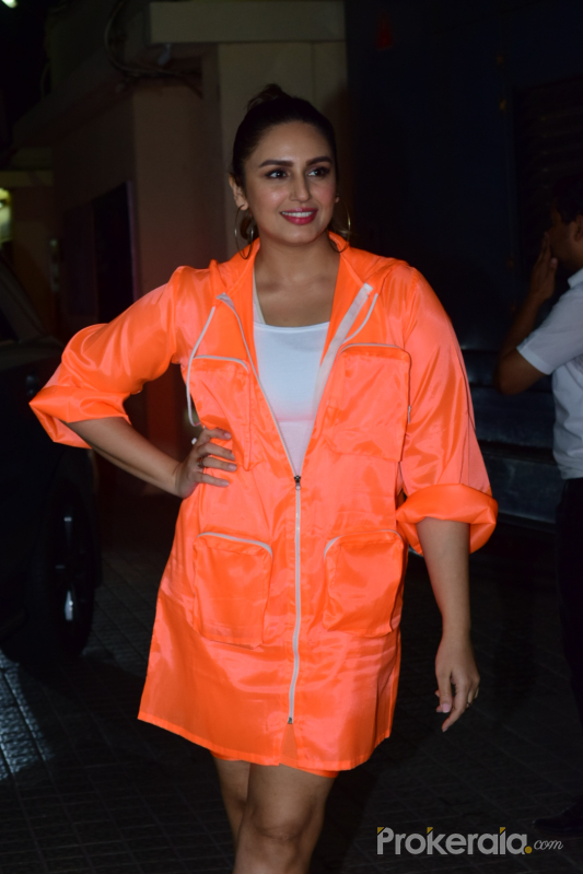 Actress Huma Qureshi at Screening of Angrezi Medium in pvr juhu