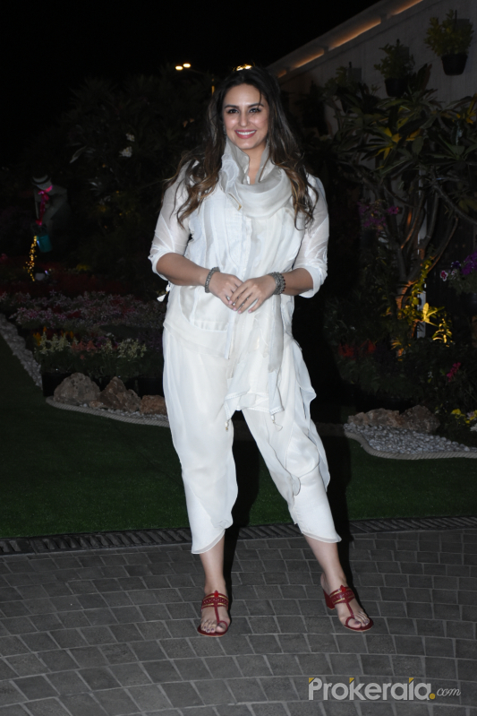 Actress Huma Qureshi elebrate Isha Ambani's Holi Party at her residence in worli