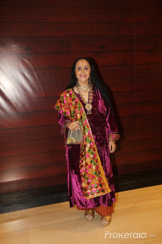 Actress Ila Arun  at Javed Akhtar's Birthday.