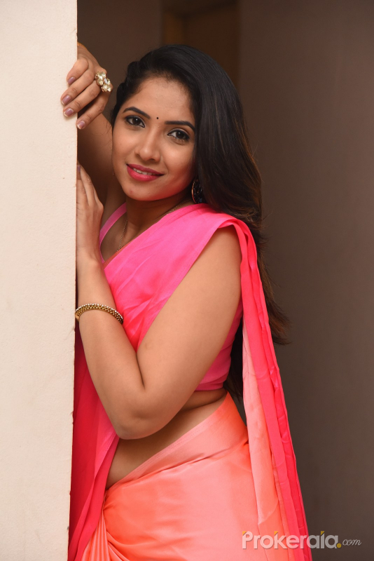 Actress Indu during the photo sesion