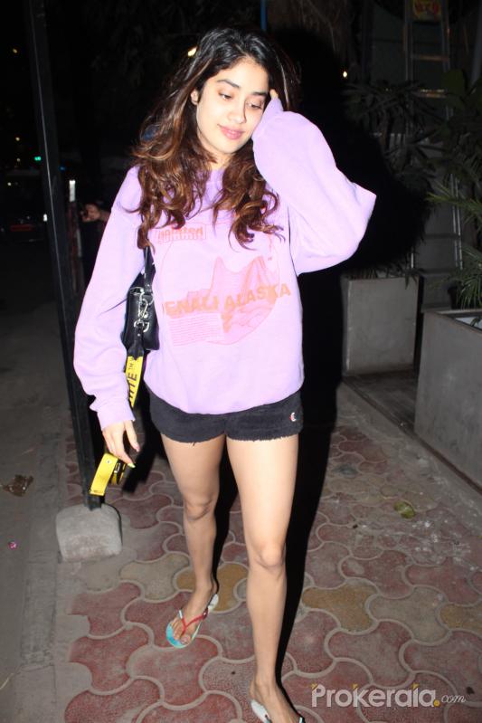 Actress Janhavi Kapoor seen at juhu