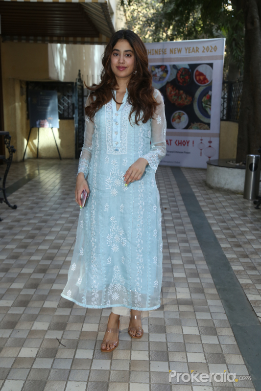 Actress Janhvi Kapoor at the inauguration of Surinder Kapoor chowk at chembur