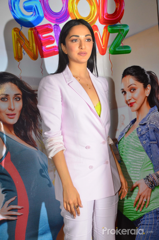 Actress Kiara Advani at the media interactions for film Good Newwz