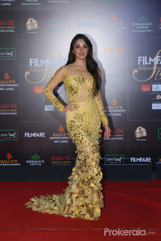 Actress Kiara Advani in Filmfare Glamour And Style Awards 2019.