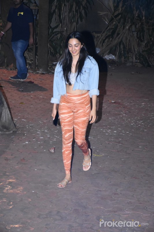 Actress Kiara Advani seen at dance class in bandra.