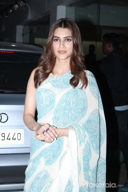 Actress Kriti Sanon  Screening of Panipat at sunny sound juhu.