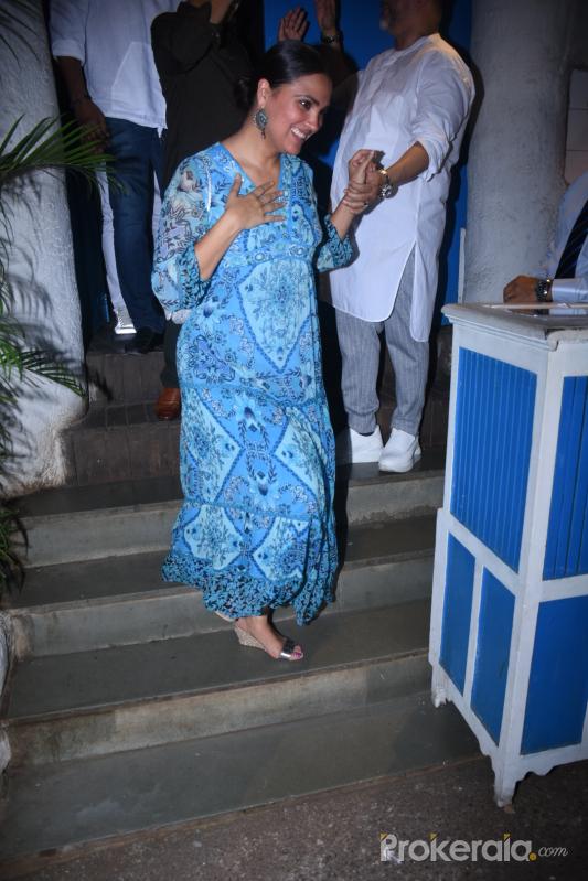 Actress Lara Dutta attend Raza Beig's birthday party at olive bandra