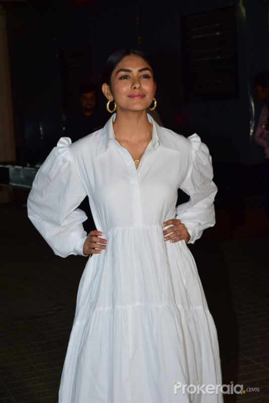 Actress Mrunal Thakur at Screening of Angrezi Medium in pvr juhu