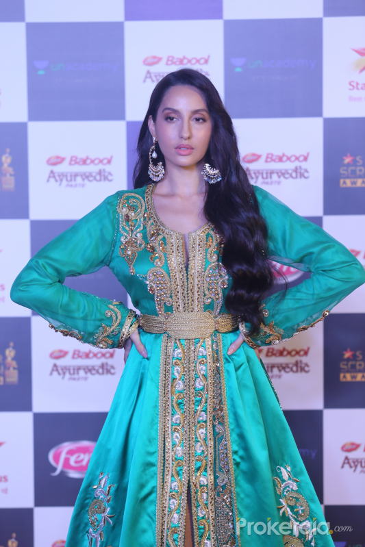 Actress Nora Fatehi in Star Screen Awards at BKC.