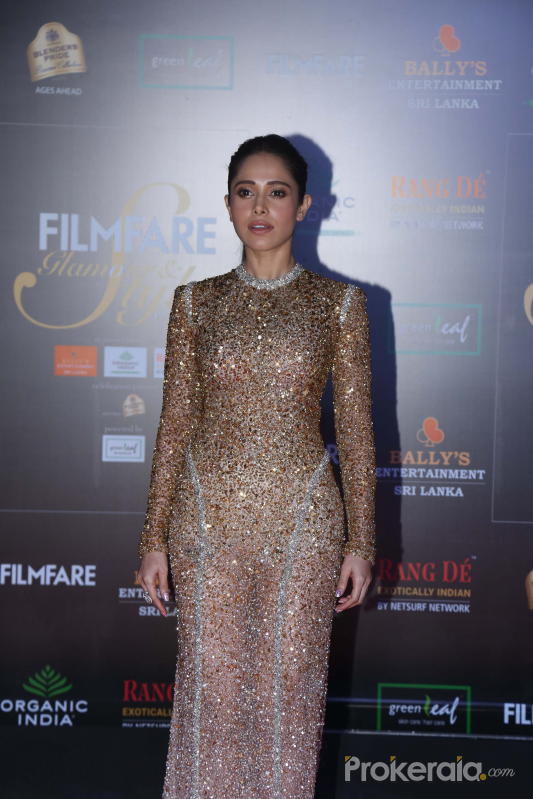Actress Nushrat Bharucha in Filmfare Glamour And Style Awards 2019.