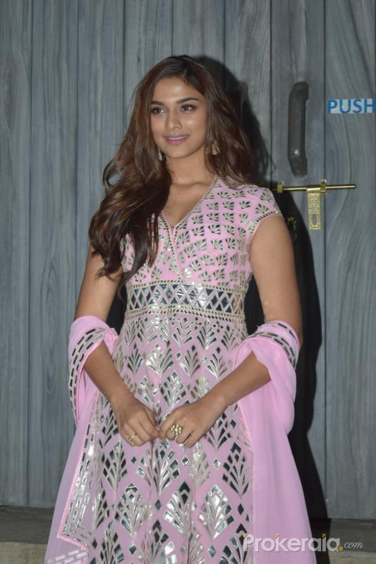 Actress Saiee Manjrekar in Promoting Function of Movie Dabangg3 at bigg boss house in goregaon