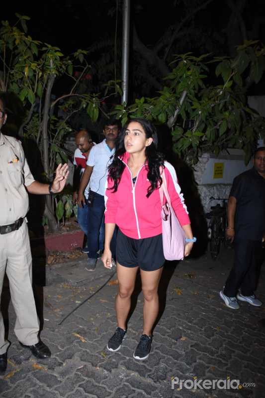 Actress Sara Ali Khan during her visit at bandra