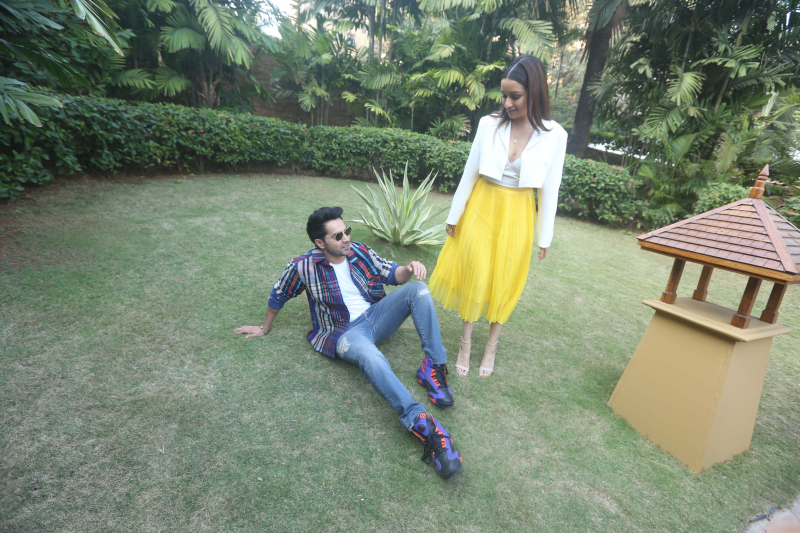 Actress Shraddha Kapoor and Varun Dhawan at jw marriott for the promotions of film Street Dancer