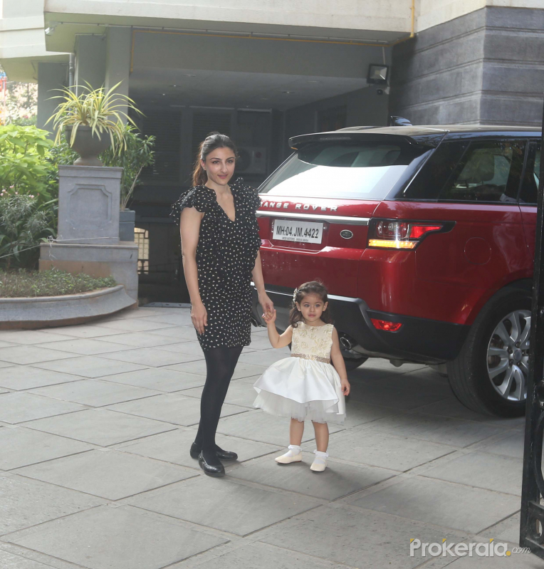 Actress Soha Ali Khan at Taimur Ali Khan Party.