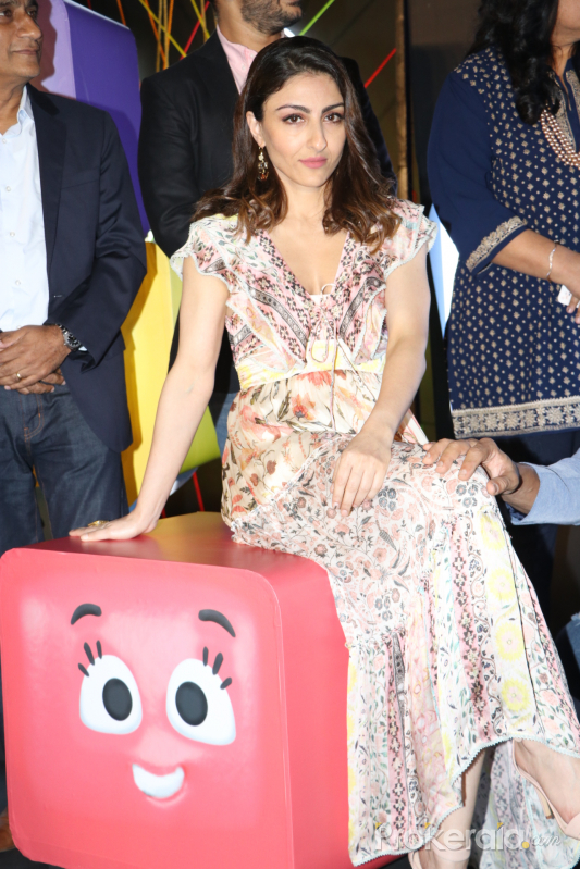 Actress Soha Ali Khan Attend Function of Voot kids app Launch.