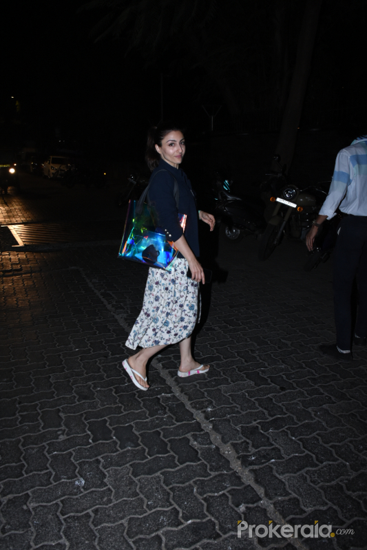 Actress Soha Ali Khan spotted at bandra
