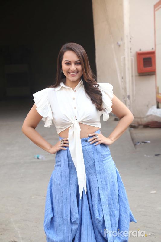 Actress Sonakshi Sinha During the promotions of film Dabangg3.