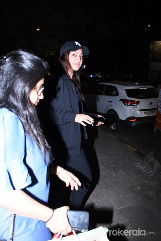 Actress Sonakshi Sinha spotted at bandrhotosa.