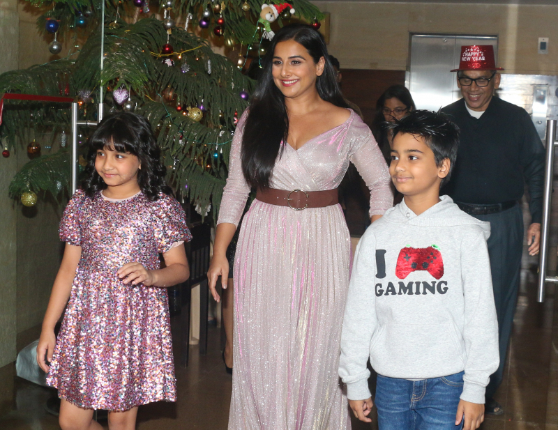 Actress Vidya Balan celebrates her birthday with family.